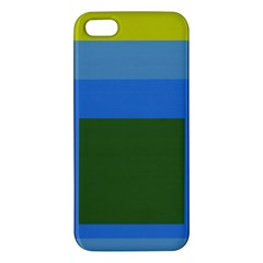 Plaid Green Blue Yellow Iphone 5s/ Se Premium Hardshell Case