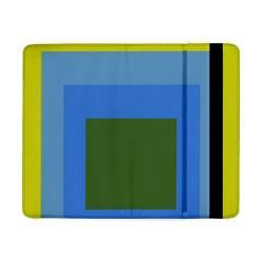 Plaid Green Blue Yellow Samsung Galaxy Tab Pro 8.4  Flip Case