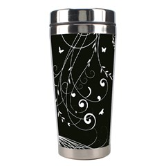 Floral Design Stainless Steel Travel Tumblers
