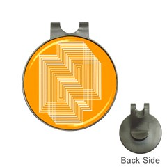 Orange Line Plaid Hat Clips with Golf Markers