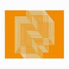 Orange Line Plaid Small Glasses Cloth (2-Side)
