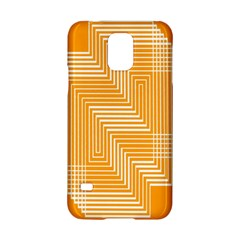 Orange Line Plaid Samsung Galaxy S5 Hardshell Case