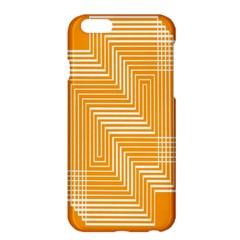 Orange Line Plaid Apple iPhone 6 Plus/6S Plus Hardshell Case