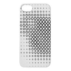 Polka Circle Round Black White Hole Apple iPhone 5S/ SE Hardshell Case