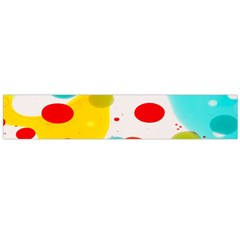Polkadot Color Rainbow Red Blue Yellow Green Flano Scarf (Large)