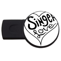 Singer Love Sign Heart USB Flash Drive Round (1 GB)