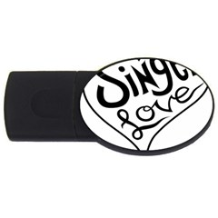 Singer Love Sign Heart USB Flash Drive Oval (1 GB)