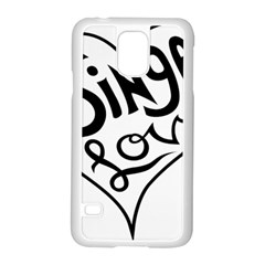 Singer Love Sign Heart Samsung Galaxy S5 Case (white)