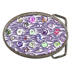 Painted circles           Belt Buckle