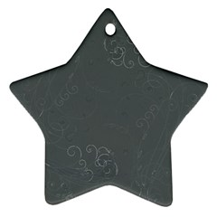 Floral Design Star Ornament (two Sides)