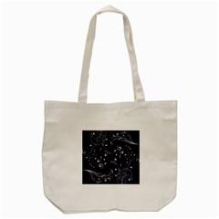 Floral Design Tote Bag (cream)