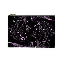 Floral design Cosmetic Bag (Large)