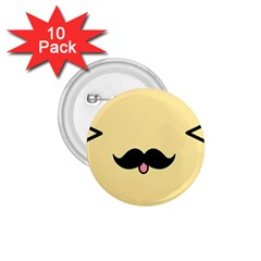 Mustache 1.75  Buttons (10 pack)