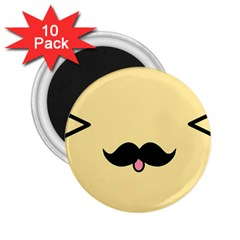 Mustache 2.25  Magnets (10 pack)