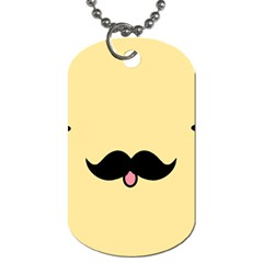 Mustache Dog Tag (one Side)