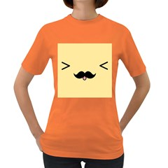 Mustache Women s Dark T Shirt