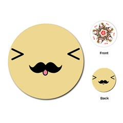 Mustache Playing Cards (round)