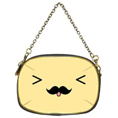 Mustache Chain Purses (one Side)