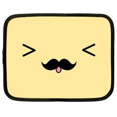 Mustache Netbook Case (XXL)