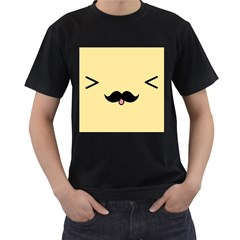 Mustache Men s T-Shirt (Black)