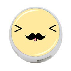 Mustache 4 Port Usb Hub (two Sides)
