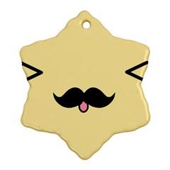 Mustache Ornament (Snowflake)