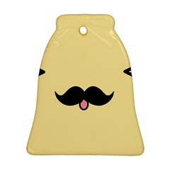 Mustache Bell Ornament (Two Sides)