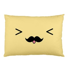 Mustache Pillow Case (two Sides)