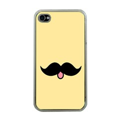 Mustache Apple iPhone 4 Case (Clear)