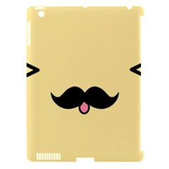 Mustache Apple Ipad 3/4 Hardshell Case (compatible With Smart Cover)