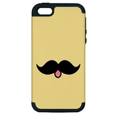 Mustache Apple Iphone 5 Hardshell Case (pc+silicone)