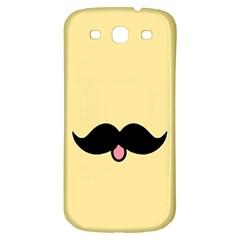 Mustache Samsung Galaxy S3 S Iii Classic Hardshell Back Case