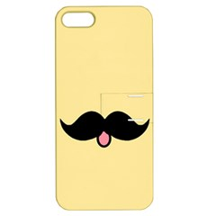 Mustache Apple Iphone 5 Hardshell Case With Stand