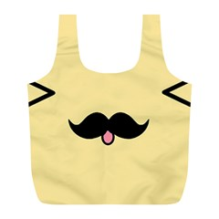 Mustache Full Print Recycle Bags (l)