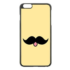 Mustache Apple Iphone 6 Plus/6s Plus Black Enamel Case