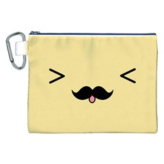 Mustache Canvas Cosmetic Bag (XXL)