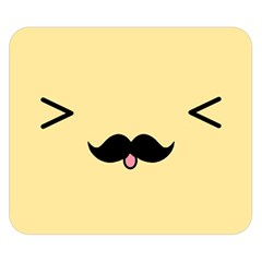 Mustache Double Sided Flano Blanket (small)
