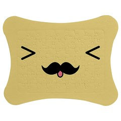 Mustache Jigsaw Puzzle Photo Stand (Bow)