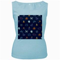 Kawaiieen Pattern Women s Baby Blue Tank Top