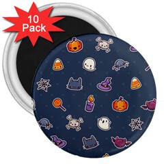Kawaiieen Pattern 3  Magnets (10 Pack)