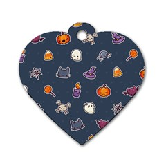 Kawaiieen Pattern Dog Tag Heart (two Sides)