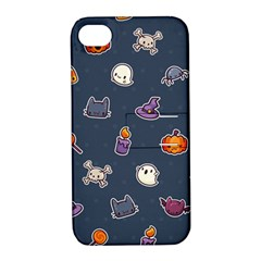Kawaiieen Pattern Apple Iphone 4/4s Hardshell Case With Stand