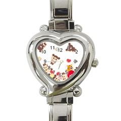 Chocopa Panda Heart Italian Charm Watch