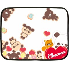 Chocopa Panda Double Sided Fleece Blanket (mini)
