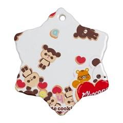 Chocopa Panda Snowflake Ornament (two Sides)