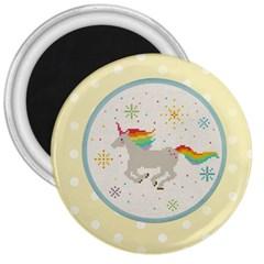 Unicorn Pattern 3  Magnets