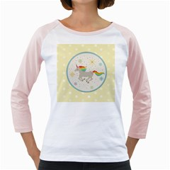 Unicorn Pattern Girly Raglans