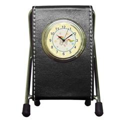 Unicorn Pattern Pen Holder Desk Clocks