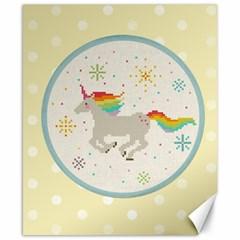 Unicorn Pattern Canvas 8  x 10