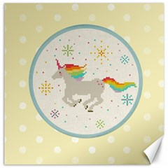 Unicorn Pattern Canvas 12  X 12